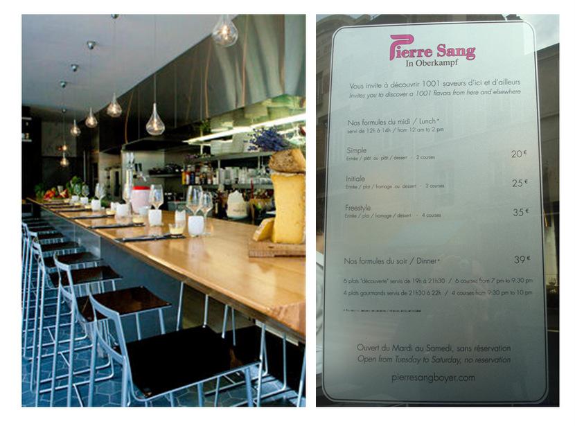 J'ai testé le restaurant «Pierre-Sang in Oberkampf»