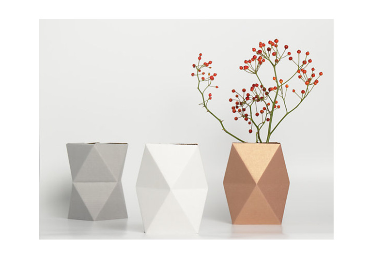 Tentation Design – Vase en carton Snug.vase