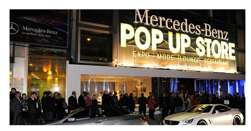 Soirée d'inauguration du Pop-up Store Mercedes-Benz