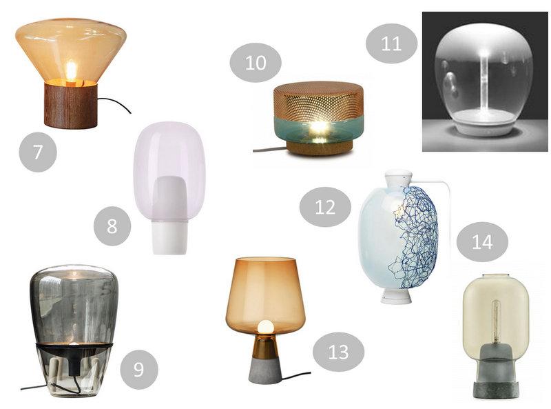 lampe a poser verre design