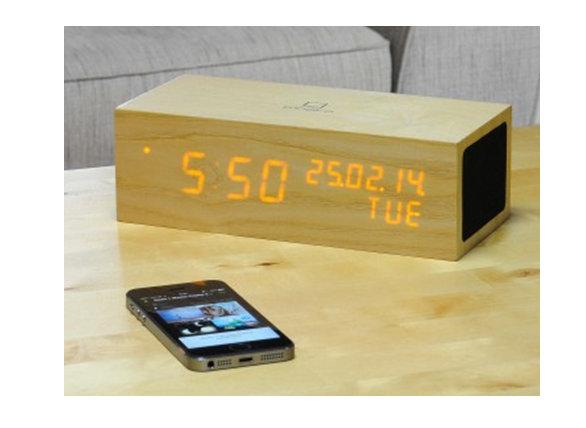 Tentation High-Tech – Réveil Oak Music de Click Clock