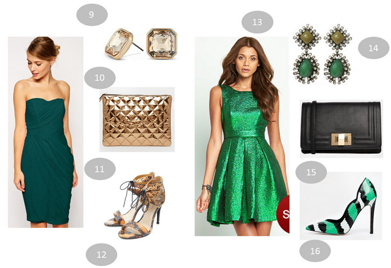 sp cial robe verte 6 looks pour les f tes 2014 moins. Black Bedroom Furniture Sets. Home Design Ideas