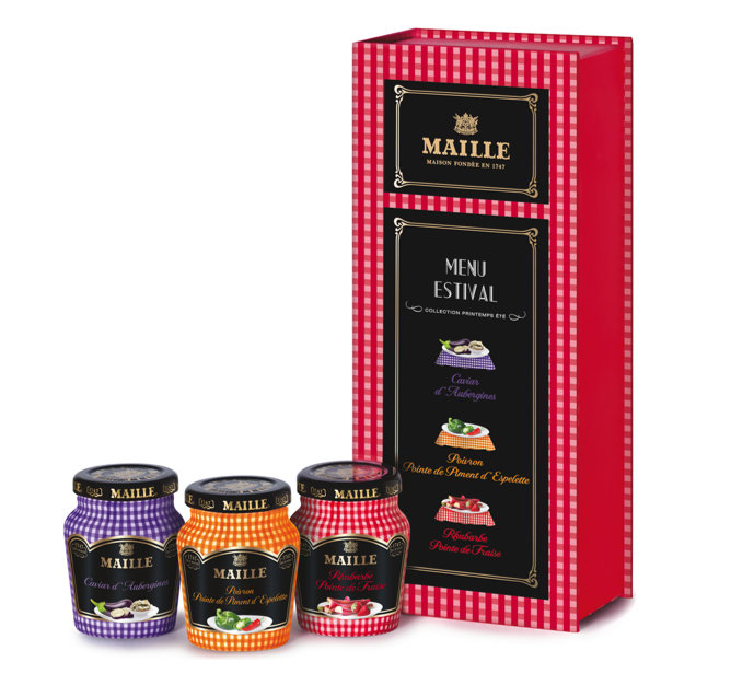 Tentation Gourmande – Coffret de moutardes Maille