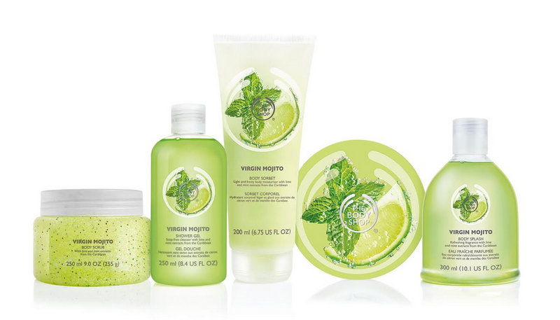 Tentation Beauté – Collection pour le corps Virgin Mojito par The Body Shop