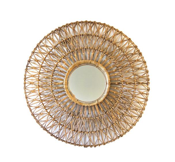 tentation design miroir en rotin de la compagnie fran aise de l orient et de la chine. Black Bedroom Furniture Sets. Home Design Ideas