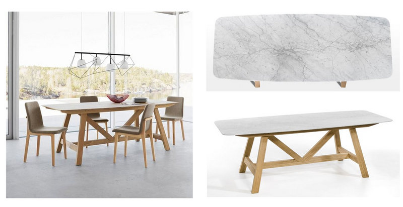 Tentation design table plateau marbre buondi par am pm for Table salle a manger en marbre design