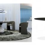 Tentation Design – Table de repas Aqua de Roche Bobois